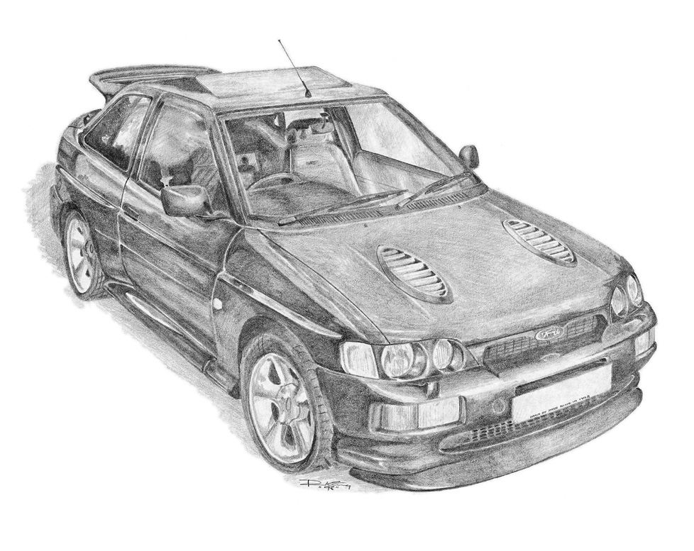 drawing-pencil-ford-escort-cosworth