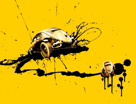 Illustration – VW 'Rat look' Beetle